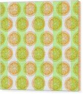 Orange Slice Pattern 2 - Tropical Pattern - Tropical Print - Lemon - Orange - Fruit - Tangerine Wood Print