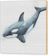 Orca Blue Wood Print