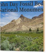 Oregon - John Day Fossil Beds National Monument Sheep Rock 1 Wood Print