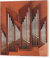 Organ Of Bilbao Jauregia Euskalduna Wood Print
