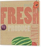Organic Fresh Produce Poster Wood Print