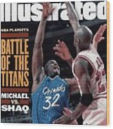 Orlando Magic Shaquille Oneal, 1995 Nba Eastern Conference Sports Illustrated Cover Wood Print