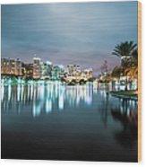 Orlando Night Cityscape Wood Print