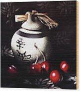 Ornamental Cherries Wood Print