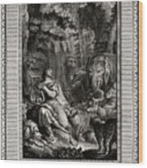 Orpheus, By His Voice And Lyre Wood Print