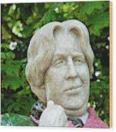 Oscar Wilde Statue One  Wood Print