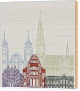 Osijek Skyline Poster  Wood Print