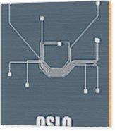 Oslo Subway Map Wood Print