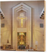 Our Lady Of The Universe Cathedral Wood Print