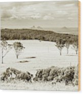 Outback And Beyond Wood Print