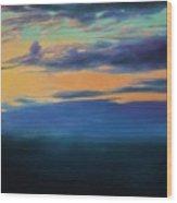 Over The Sea Wood Print