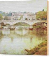 Over The Tiber Wood Print
