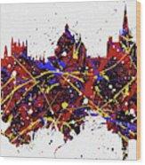 Oxford Colorful Skyline Wood Print