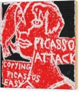 Pablo Picasso Attack 6 Wood Print