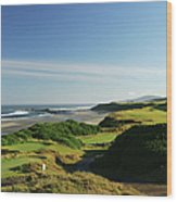 Pacific Dunes  13th Wood Print
