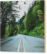 Pacific Northwest Road Wood Print