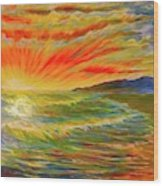Pacific Sunset Wood Print