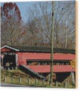 Painted Bridge At Chads Ford Pa Wood Print