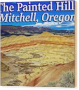 Painted Hills 01 Wood Print