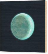 Pale Blue Dot Wood Print