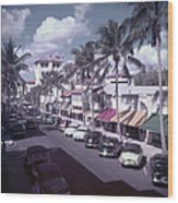 Palm Beach Street Wood Print