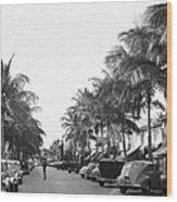Palm Beachs Worth Avenue Wood Print