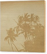 Palm Paper Wood Print