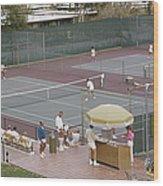 Palm Springs Tennis Club Wood Print