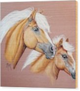 Palomino Pair Wood Print