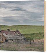 Palouse Barn 9907 Wood Print