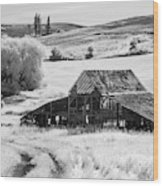 Palouse Barn Ir 9305 Wood Print