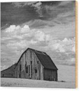 Palouse Barn Ir 9335 Wood Print