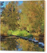 Palouse River Reflections Wood Print