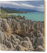 Pancake Rocks - New Zealand Wood Print