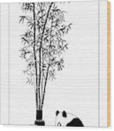 Panda Juice Wood Print