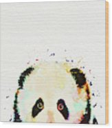 Panda Watercolor Wood Print