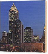 Panorama Of Atlanta, Georgia Wood Print