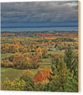 Panoramic Autumn View Wood Print