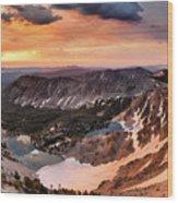 Panoramic Cdt Sunrise Wood Print