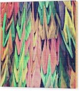 Paper Cranes Wood Print