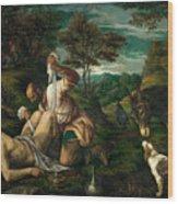 Parable Of The Good Samaritan  Wood Print