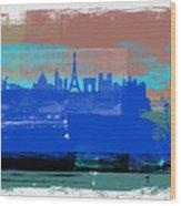 Paris Abstract Skyline I Wood Print
