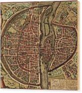 Paris Antique View Wood Print
