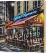 Paris Cafe Wood Print