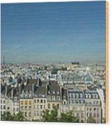 Paris Cityscape Wood Print