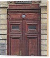 Paris Door Wood Print