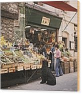 Paris, Fruit And Vegetable Shop In The Wood Print