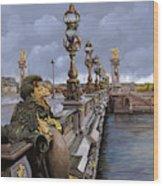 Paris-pont Alexandre Terzo Wood Print