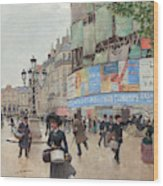 Paris, Rue Du Havre Circa 1882 Wood Print