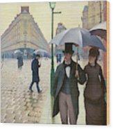 Paris Street In Rainy Weather - Digital Remastered Edition Wood Print